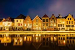 Woningen langs het water